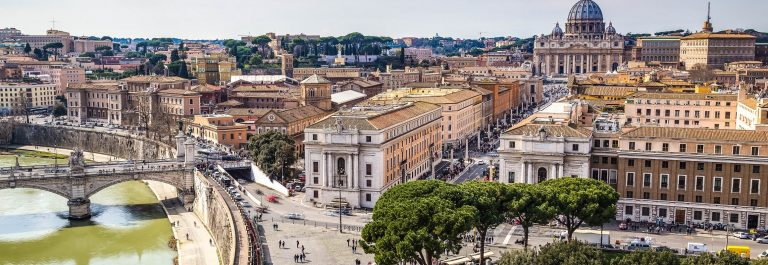 Skyline of Rome, beautiful cityscape