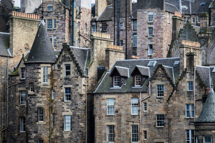 Unterwegs in der Altstadt von Edinburgh