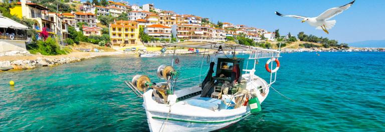 Fishermen boat in Chalkidiki