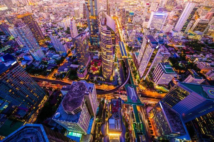 Panoramic view of urban landscape in Bangkok Thailand iStock_000070802727_Large-2