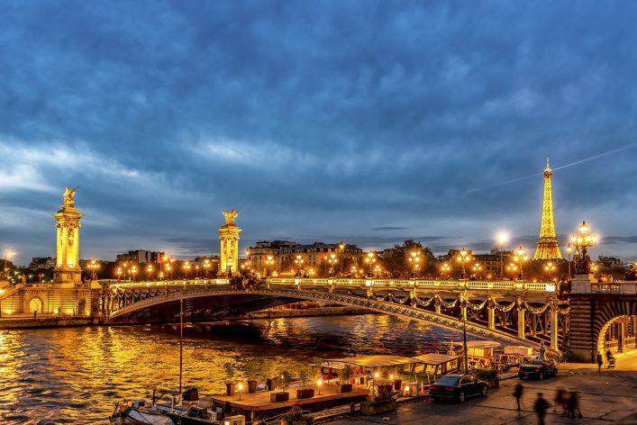 Paris, Seine, 24 stunden
