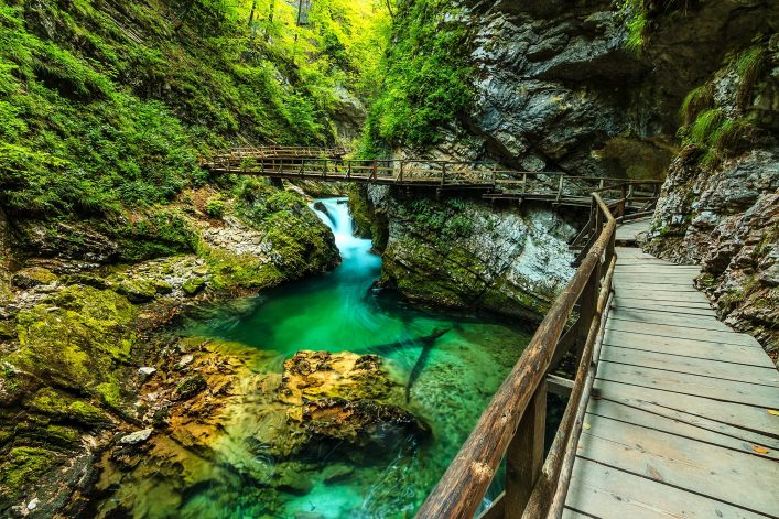 Vintgar gorge and green river,Bled,Triglav- Slovenia