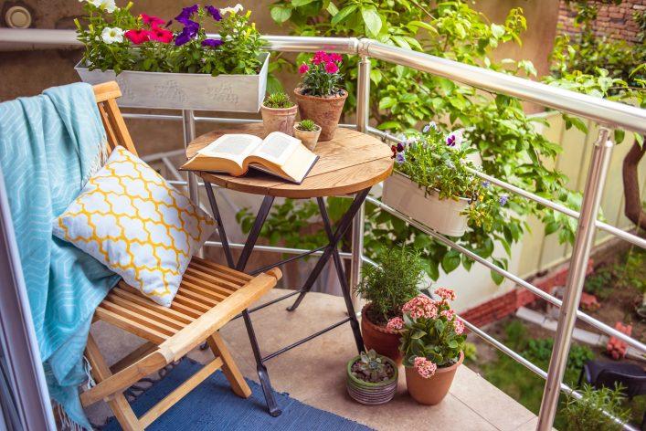 Urlaubsfeeling auf dem Balkon