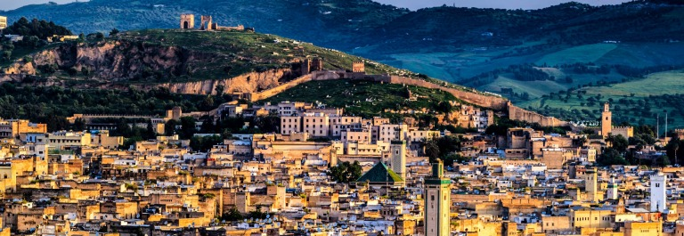 Panoramic view of Medina in Fez Marokko iStock_000033961994_Large-2