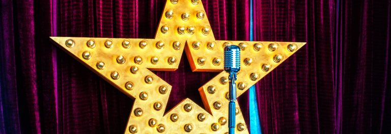 Star, microphone, stage
