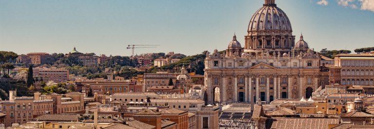 Vatican city. St Peter's Basilica Rome Italy shutterstock_628758770