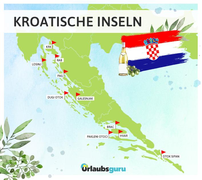 Ich stelle euch die schönsten Kroatischen Inseln im Überblick vor