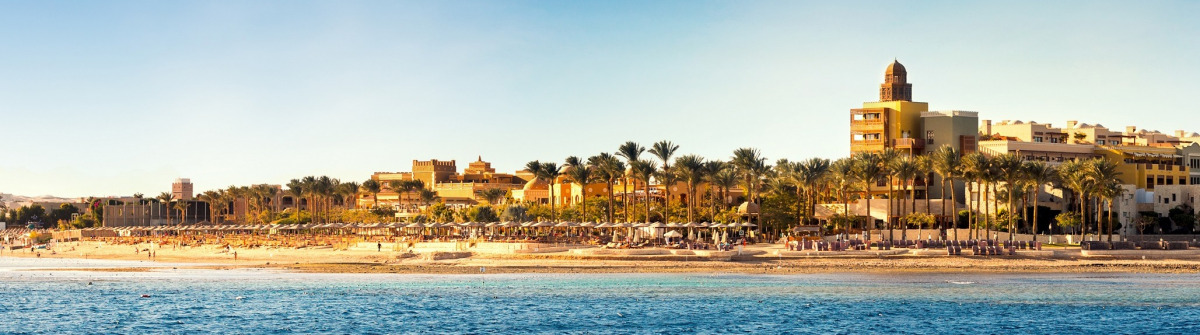 Coast of Hurghada on a sunny day