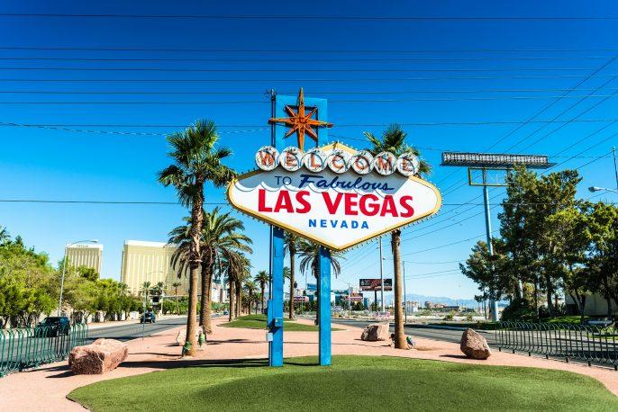 Fabulous Las Vegas sign on the strip