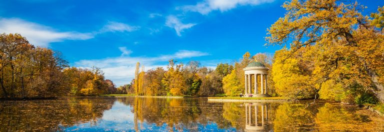 Autumn in the park of Nymphenburg Palace