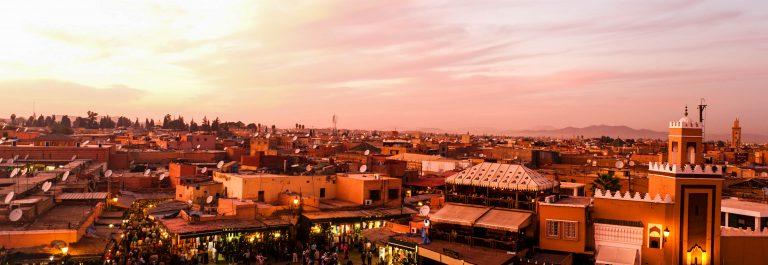 Sunset in Marrakesh, Morocco shutterstock_93335773-2