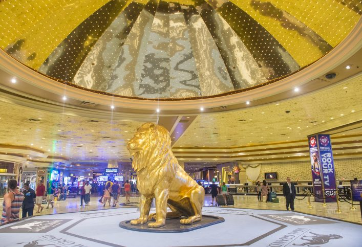 The interior of MGM hotel and casino shutterstock_219982198 EDITORIAL ONLY Kobby Dagan