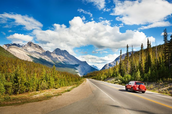 Banff National Park Road Trip Drive through Canadian Rocky Mountains