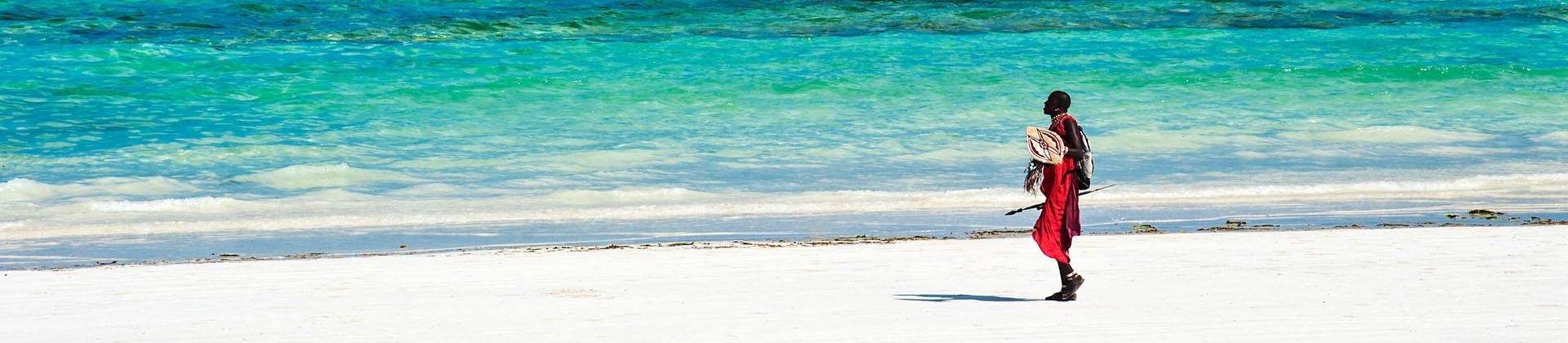 De kust van Kenia