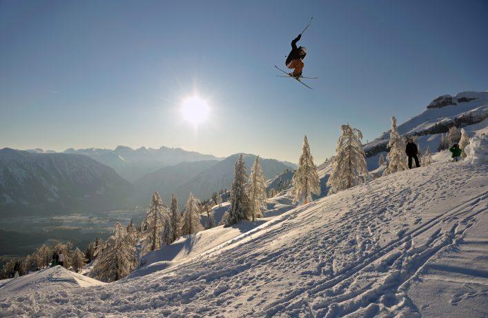 Extreme Sport Freestyle Ski Jump Panorama
