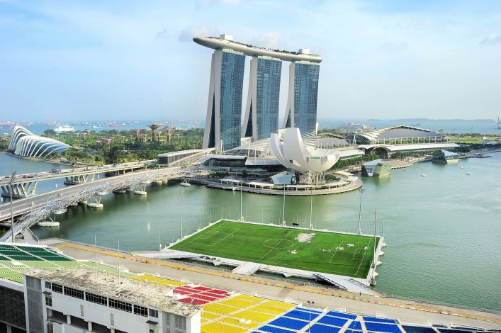 Stadien Singapur Marina Bay