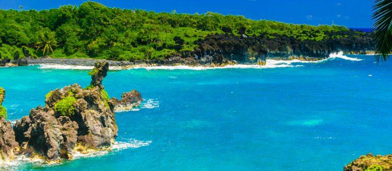 Spektakulärer Meerblick auf der Straße nach Hana Maui, Hawaii iStock_30652532_XLARGE-2