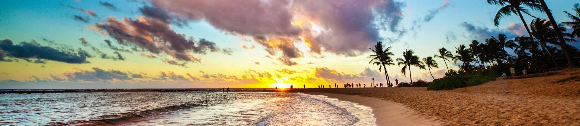 Strand op Hawaii
