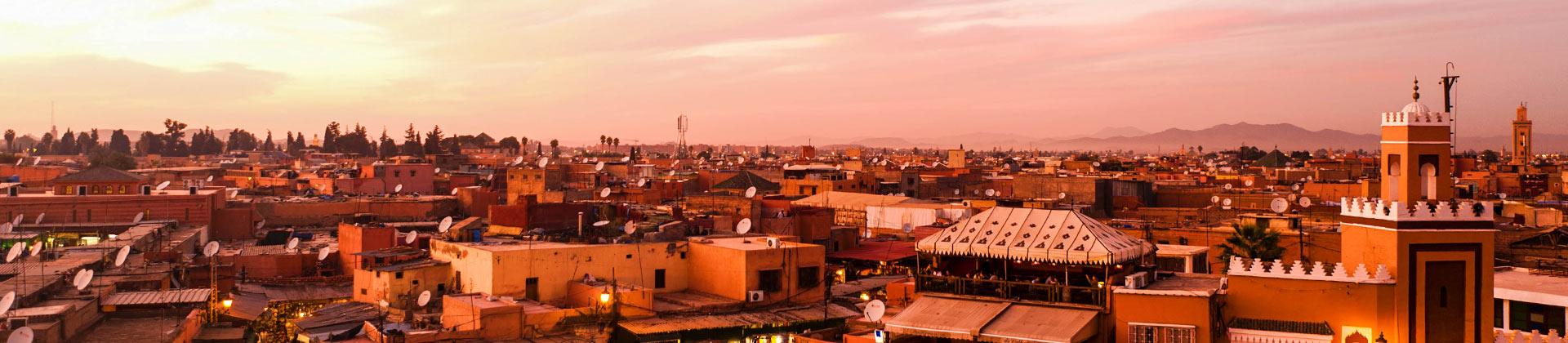 Uitzicht over Marrakech