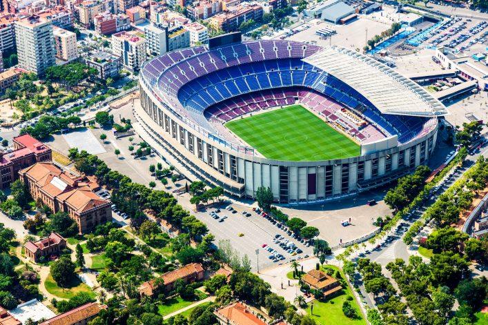Eindrucksvolle Stadien, Barcelona, Cam Nou, Besichtigung, Führung, Tour
