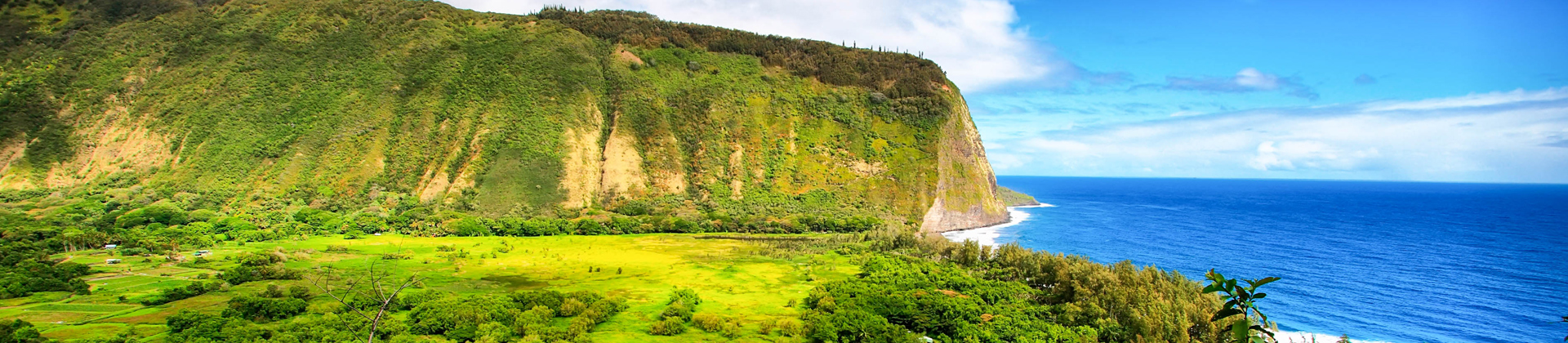Waipio Valley op the big island in Hawaii