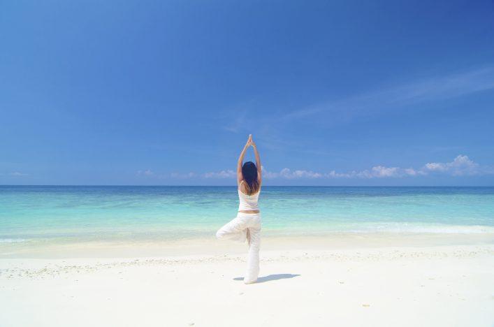 Digital Detox Urlaub Strand Yoga