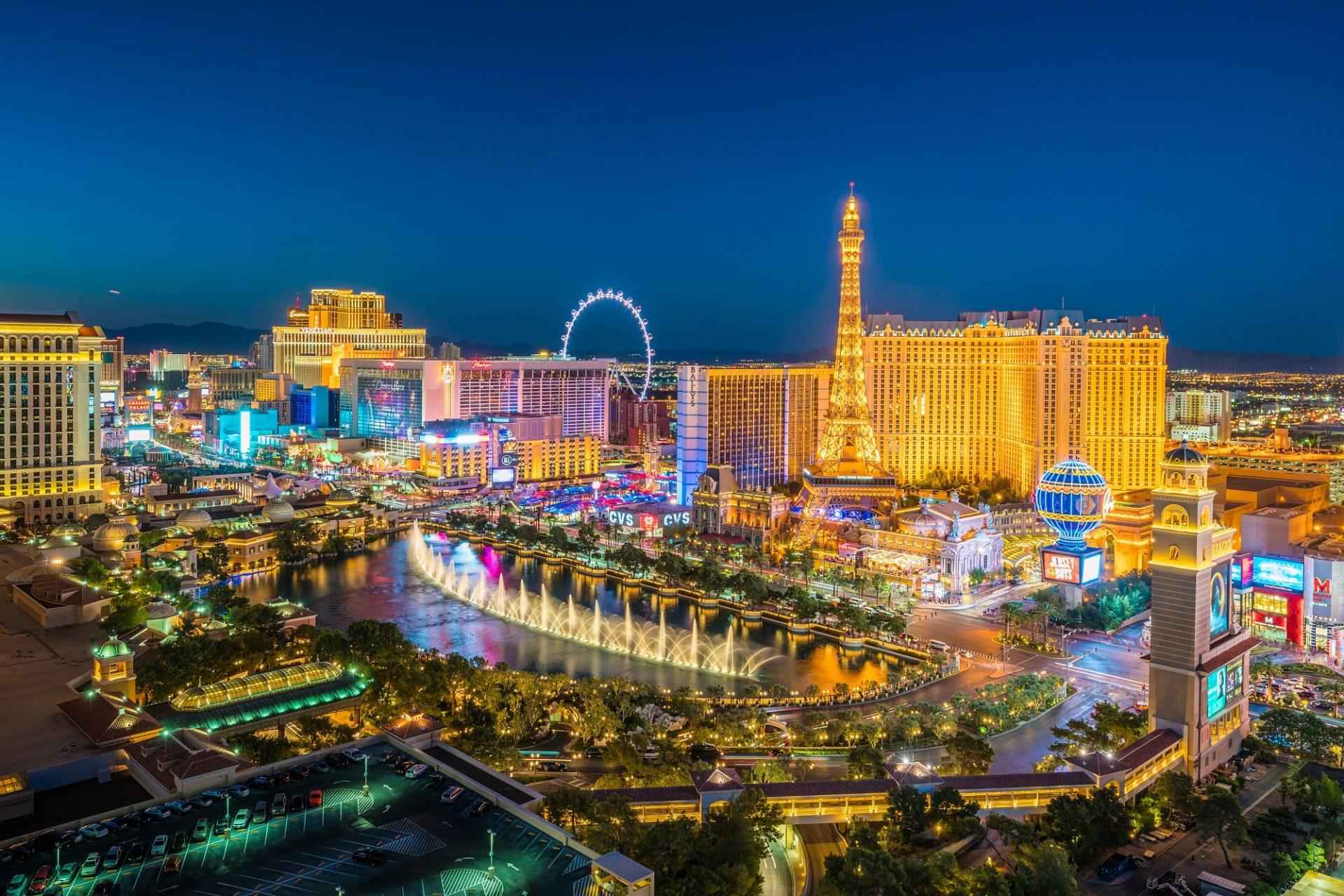 Die Skyline von las Vegas bei Nacht