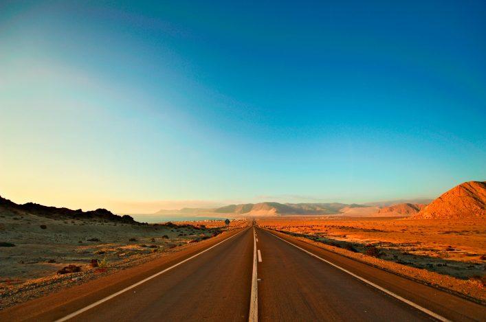 Chile, Pan-American Highway, Road.