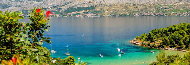 Picturesque view on sandy Lovrecina beach on Brac island, Croatia shutterstock_59708113-2