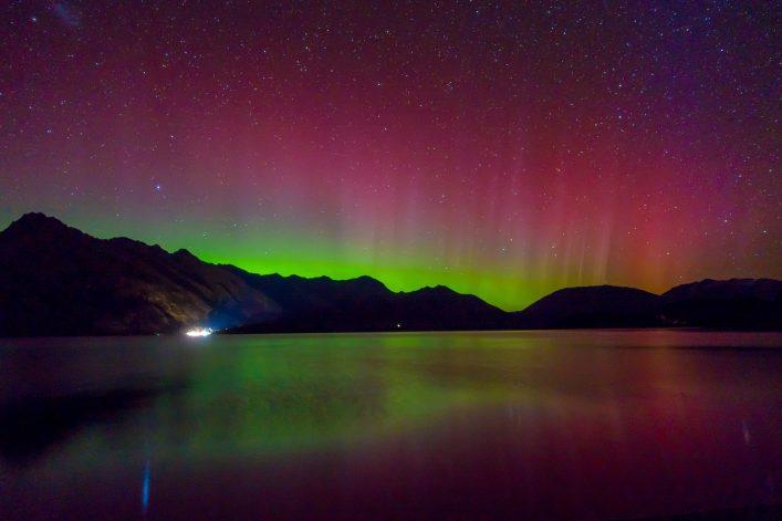 Polarlichter See Berge