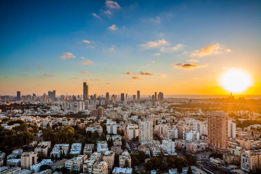 De skyline van Tel Aviv