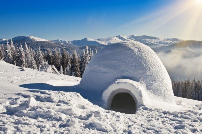 igloo on the snow