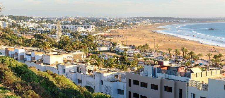 View of Beach in Agadir city, Morocco