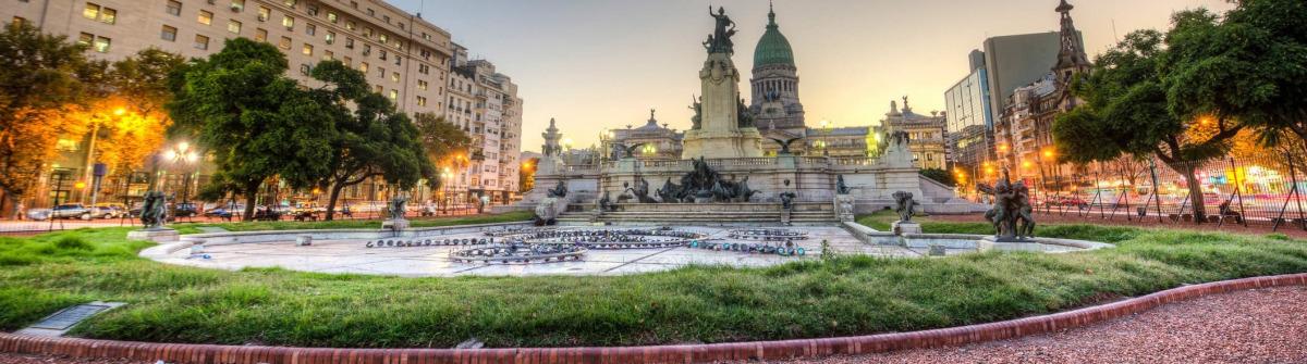 Congress Square in Buenos Aires, Argentinien