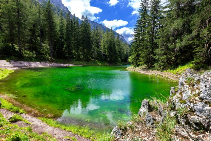 Gruner See – Beautiful green lake with crystal clear water
