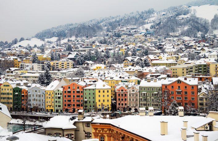 Innsbruck in Tirol im Winter