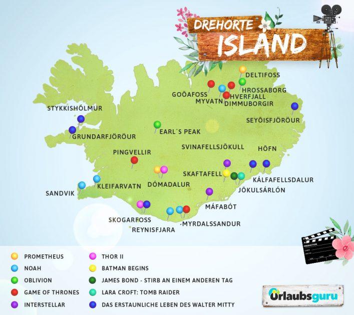 Die vielseitigen Drehorte auf Island