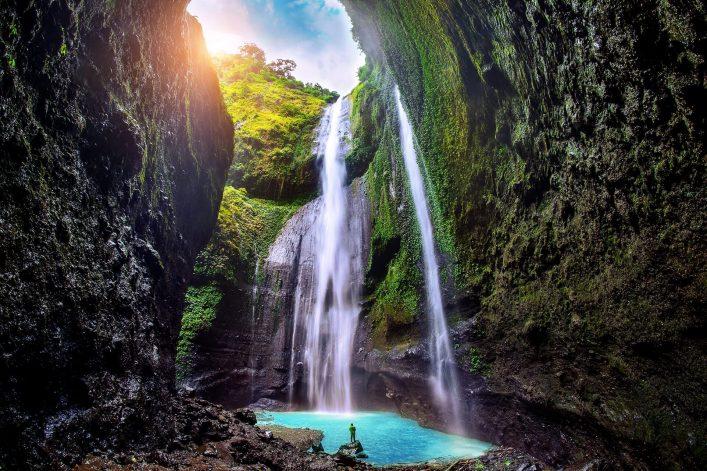 Der Madakaripura-Wasserfall auf Java