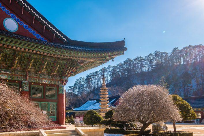 Besucht Pyeonchang in Südkorea während der Winterspiele 2018