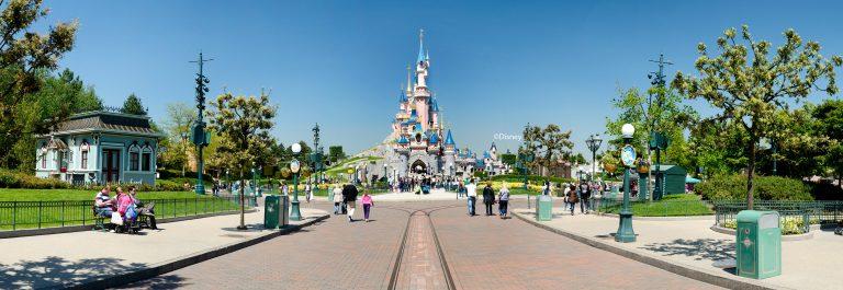Panorama Blick auf das Schloss