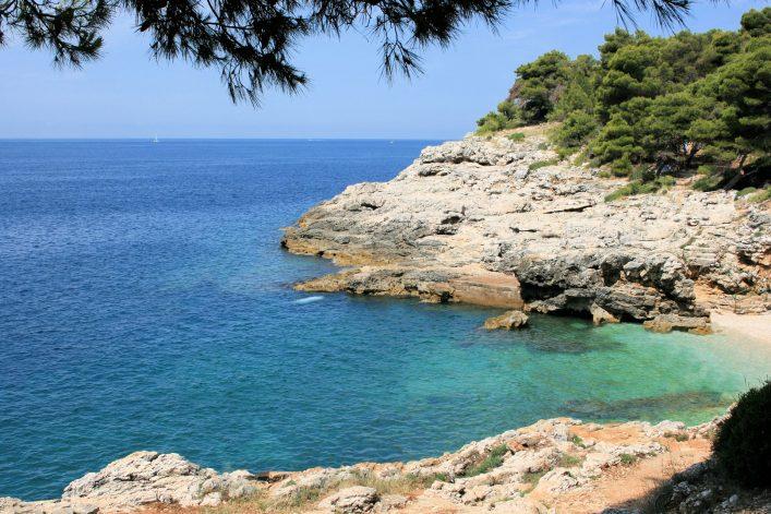 Eine Bucht in Kroatien.