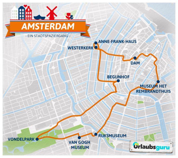 Ein Spaziergang zu den schönsten Sehenswürdigkeiten in Amsterdam