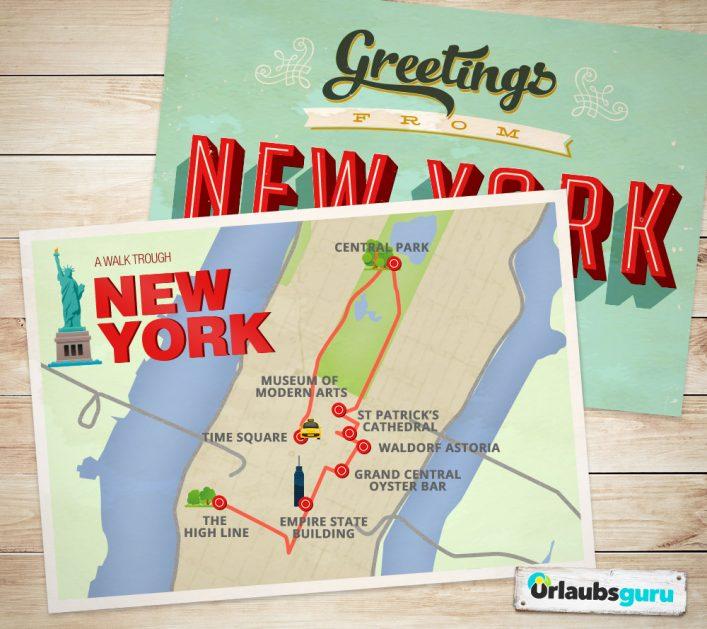 Ein Stadtspaziergang zu den Sehenswürdigkeiten in New York