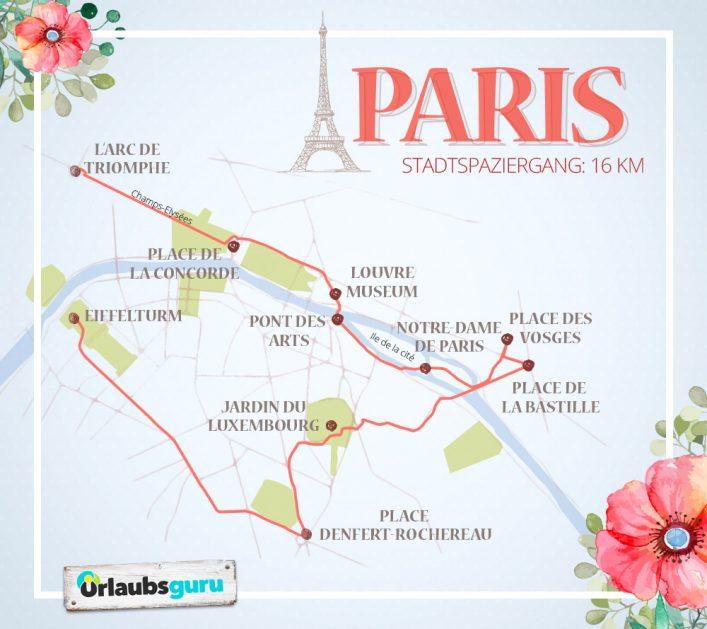 Ein Spaziergang zu den Sehenswürdigkeiten in Paris