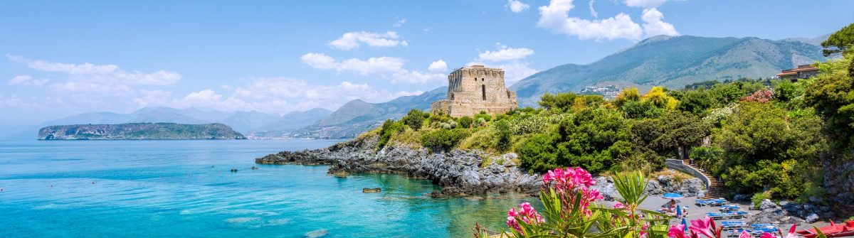 Torre Crawford San Nicola Arcella, Calabria, Italy shutterstock_440095129