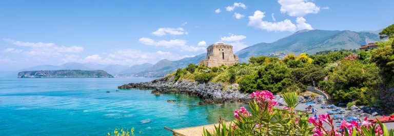 Torre Crawford San Nicola Arcella, Calabria, Italy shutterstock_440095129