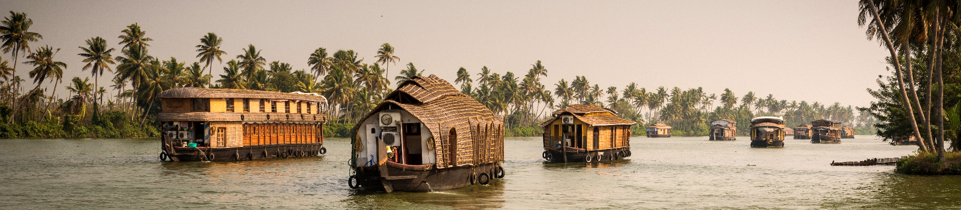 Boten op het water in India