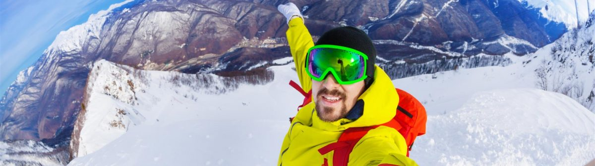 Die krassesten Seflies der Welt, Selfie beim Skifahren.