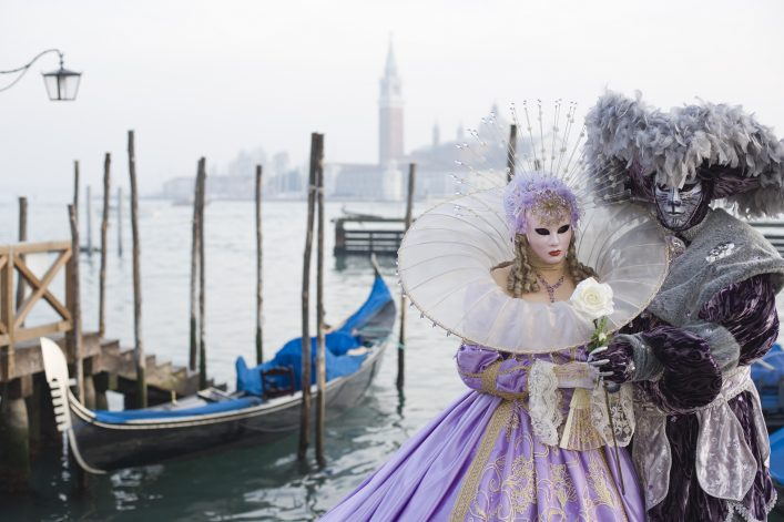 Couple of Masks – Beauty and beast in Venice (XXL)