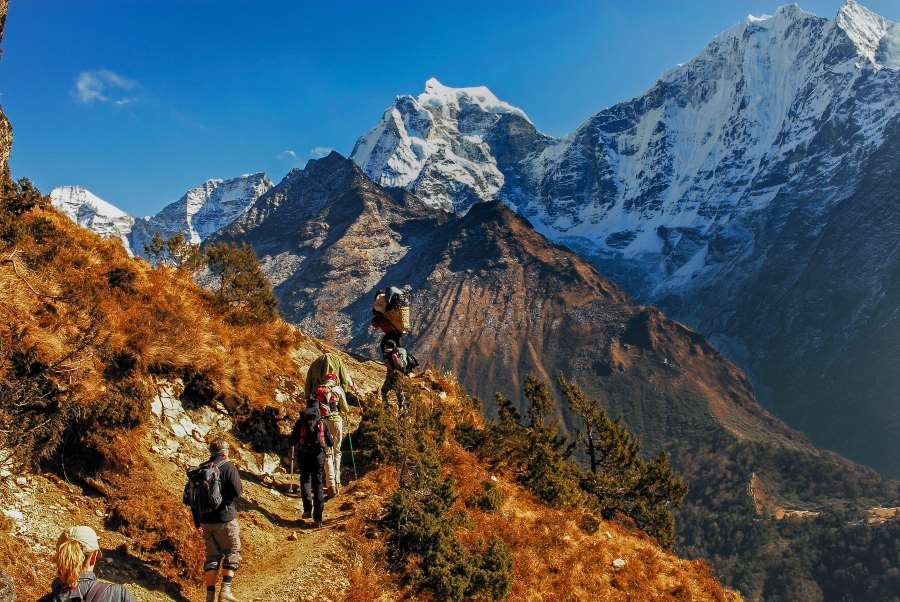 khumbu sagarmatha nationalpark in Nepal